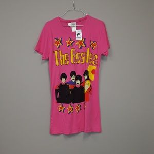 NWT The Beatles Yellow Submarine pink top